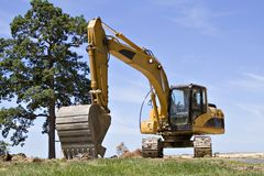 Large Backhoe Stock Image