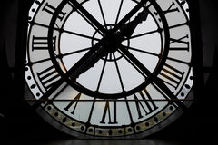 Large backlit clock in the Orsay Museum, Paris Stock Photography