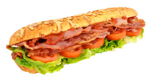 Large Bacon And Tomato Sandwich Royalty Free Stock Image