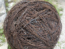 Large ball of barbed wire Royalty Free Stock Images