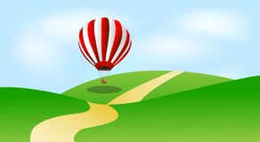 Large balloon in blue sky Royalty Free Stock Photo