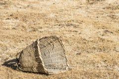 A large bamboo basket Royalty Free Stock Image