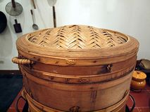 Large Bamboo Steamer Royalty Free Stock Image
