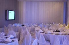 Large Banquet. In a dining room Stock Photography