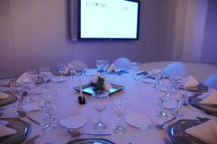 Large Banquet. In a dining room Royalty Free Stock Photo