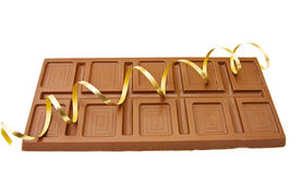 Large bar of fine Belgian chocolate Royalty Free Stock Photos