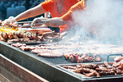 A large barbecue Royalty Free Stock Photo