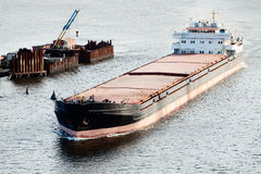 Large barge Stock Photo