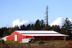 Large barn. Royalty Free Stock Image