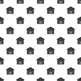 Large barn pattern, simple style Royalty Free Stock Images