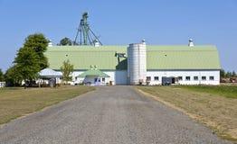 Large barn in Suvie Island Oregon. Stock Photo