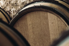 Large barrels close-up Stock Photography