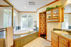 Large bathroom with jacuzzi, Royalty Free Stock Photography