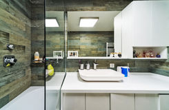 Large Bathroom in Luxury Home Royalty Free Stock Image