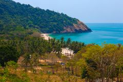 Large beach with camping. Lanta. royalty free stock photo