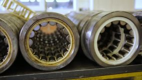 Large bearings from the train stock footage