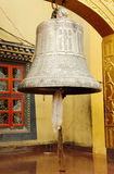 A large beautiful bell at Swayambhunath Stupa, Kathmandu, Nepal. The bell is the common and essential musical instrument in the tantric Buddhism rituals Stock Photo