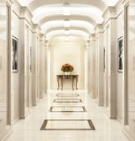 Large hallway in a classic style. Large beautiful hallway in a classic style royalty free stock photo