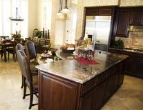 Large beautiful kitchen Stock Photography
