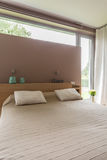 Large bed for two royalty free stock photo