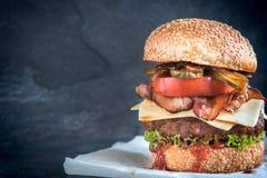 Large beef burger Royalty Free Stock Photo