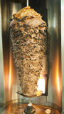 Large beef kebab on a spit roast stock photo