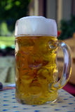 Large Beer. 1 Liter of beer on a table Royalty Free Stock Image