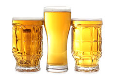 Large beer cups Stock Photography
