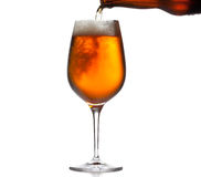 Large beer goblet chilled Royalty Free Stock Photo