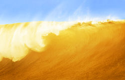 Large Beer Wave Royalty Free Stock Image