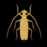 Large Beetle Silhouette Vector Illustration Royalty Free Stock Photo