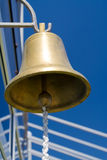 Large Bell. Bronze large bell on a tall ship Royalty Free Stock Photos