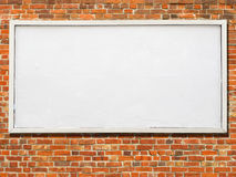 Large billboard with blank white paper. Stock Photography