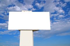 Large Billboard with blue sky Stock Image