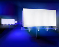 Large billboards. Vector illustration. Royalty Free Stock Photography