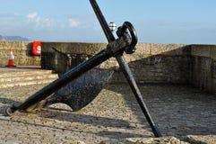 Large black anchor Lyme Regis Dorset Royalty Free Stock Image