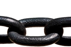 Large Black Chain Stock Image