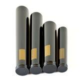 Large black cigar tubes Royalty Free Stock Photo