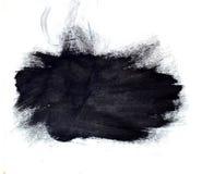 Large black ink splotch. Artistic backdrop. Large artistic black paint brush splotch texture Royalty Free Stock Photo
