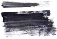 Large black ink splotch. Artistic backdrop. Large artistic black paint brush splotch texture Stock Image