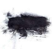 Large black ink splotch. Artistic backdrop. Large artistic black paint brush splotch texture Stock Photos