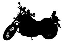 Large black motorcycle Stock Images