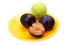 Large black plum Royalty Free Stock Photo