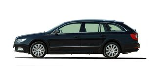 Large black station wagon Royalty Free Stock Photos