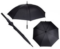 Large black umbrella Royalty Free Stock Photo