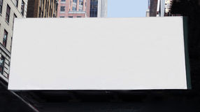 A large Blank billboard. A large size blank billboard in the city Royalty Free Stock Images