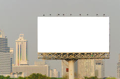 Large blank billboard with city view background Royalty Free Stock Image