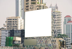 Large blank billboard in city view background Stock Images
