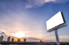 Large blank billboard with city view and background Stock Photography