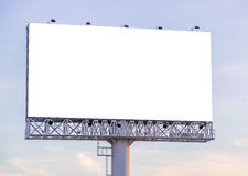 Large blank billboard with city view and background Royalty Free Stock Photos